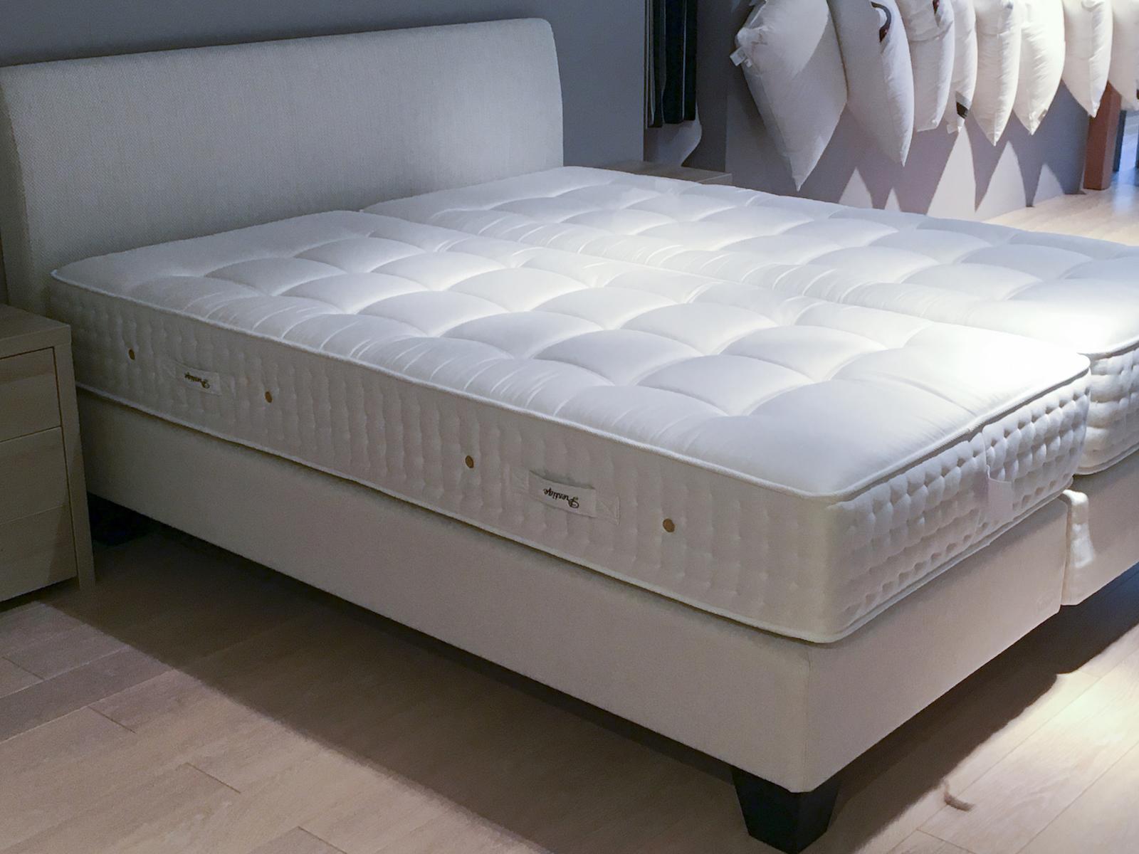 Pullman Matras Aanbieding : Showroomkorting op een jensen bed met matrassen de slaperij